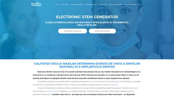 stemgenerator.ro website preview